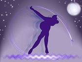 Skater in stralen van licht — Stockfoto