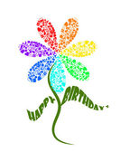 Card happy birthday — Stock Photo