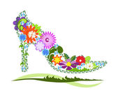 Floral shoe — Stock Photo