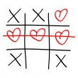 Stock Vector: Noughts and crosses game