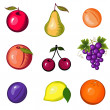 Bright set from fruit — Stock Vector