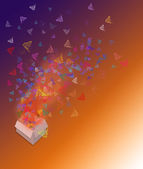 Colorful butterflies background — Stock Photo