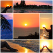Sunset collage - Stock Photo