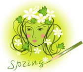 Spring in an image of the girl — Stock Photo