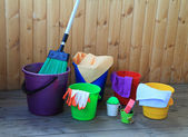 Equipment for cleaning in the house — Stock Photo