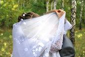 Wedding kiss — Stock Photo