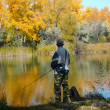 Autumn fishing — Stock Photo