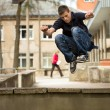 Parkour men — Stock Photo