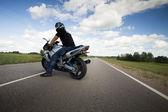 Sport motorcycle — Stock Photo