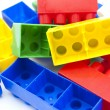 Heaps of plastic blocks — Stock Photo #17432845