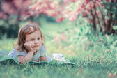 Child on grass — Foto de Stock