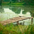 Stock Photo: Peaceful river dock