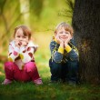 Kids posing together in the park — Stock Photo #33639969