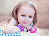 Closeup of cute smiling girl — Stock Photo