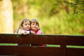 Little girls hugging — Stock Photo
