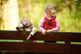 Little girls laughing — Stock Photo