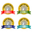 Set of labels vector - Vettoriali Stock