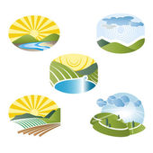 Landscape label — Stock Vector