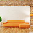 Modern interior room with nice furniture inside — Stock Photo