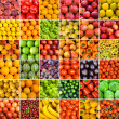 collection of fruit and vagetable backgrounds — Stock Photo