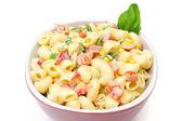 Macaroni salad isolated — Stock Photo