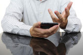 Troubles with smartphone — Stock Photo