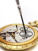 Stary zegarmistrz — Zdjęcie stockowe