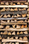 Stacked firewood — Foto de Stock