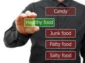 Choose healty food — Stock Photo