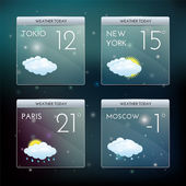 Weather widgets. — Stock Vector