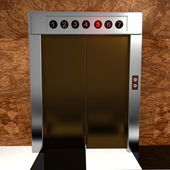 Rendered elevator — Stock Photo