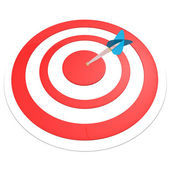 Target with arrow isolated — Stock Photo