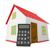 House calculator — Stock Photo