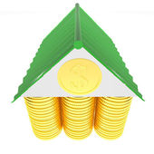 3d house money concept — Stock Photo