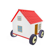 House on wheels 3d — Stock Photo