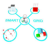 Smart grid begrepp — Stockfoto