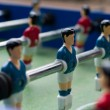 Blue table soccer players — Stock Photo
