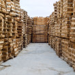 Stock Photo: Wood in factory warehouse