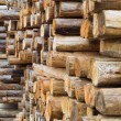 Wood in factory warehouse - Stock Photo