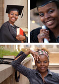 African American College Student Collage — Stock Photo