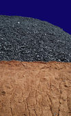 Coal mining hill — Stock Photo