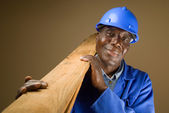 Senior African Worker — Stock Photo
