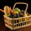 Royalty-Free Stock Photo: Basket of vegetables