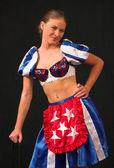 Miss America Cheerleader 2 — Stock Photo