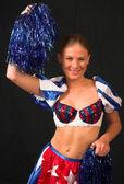 Miss America Cheerleader 4 — Stock Photo