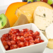 Cheese and fruit platter - Stock Photo