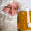 Santa mad for beer — Stock Photo #18230471