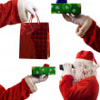 Father Christmas Composite — Stock Photo