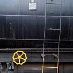 Yellow wheel, danger sign — Stock Photo