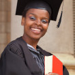 African American college student — Stock Photo